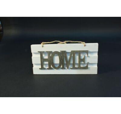 Betű dekoráció - HOME felakasztható tábla