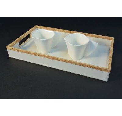 Teás cappucinós csésze  szett tálcával
