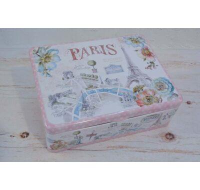 Fém teás doboz - Párizs