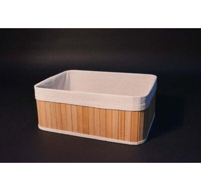 Bambusz tároló doboz bélelt 32x23x13 cm