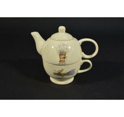 Egyszemélyes teás készlet levendula mintás 4,5 dl