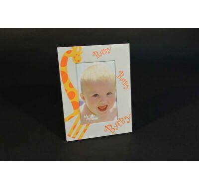 Keresztelőre babás fényképtartó 16x21 cm