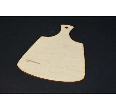 Vágódeszka alakú fatábla 24 cm-dekorálható falap