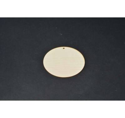 Kerek fa alap fatábla 12 cm-dekorálható natúr falap lyukkal
