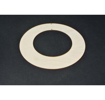 Akasztható koszorúalap ajtódísz 25 cm-dekorálható lapos karika