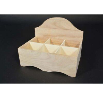 rekeszes dekorálható teafilter tartó doboz