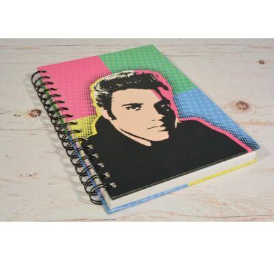 Elvis Presley spirálos vonalas jegyzetfüzet  A5