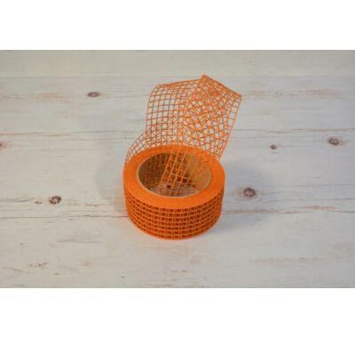 Hálós szalag-arany narancs 4,5 cm