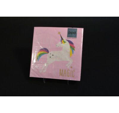 Unikornis pink parti papírszalvéta 33x33 cm