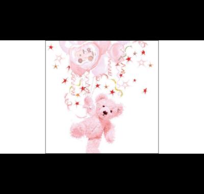 rózsaszín papírszalvéta