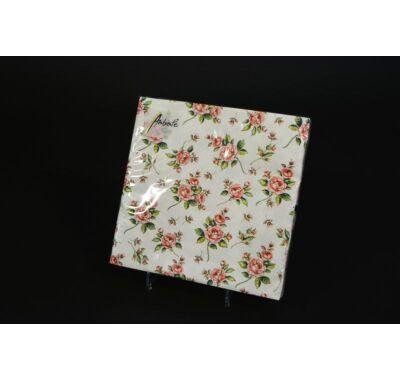 Rózsás papírszalvéta  33x33 cm