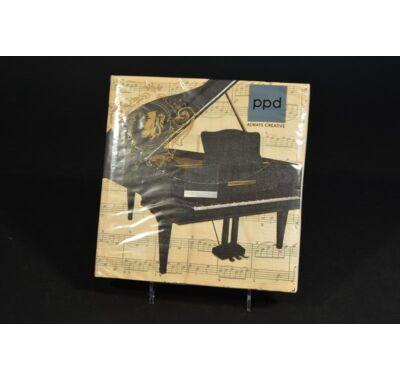 Zongora Concerto Piano zenei partiszalvéta 33x33cm 20db