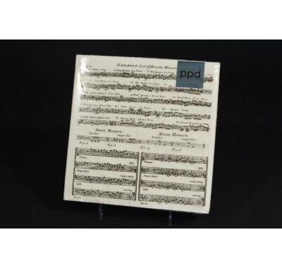 Kotta hangjegy Adagio zenész partiszalvéta 33x33cm 20db