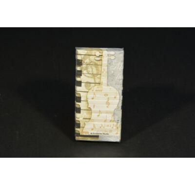 Kotta hangjegy zongora mintás papírzsebkendő 10db