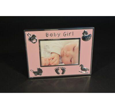 Keresztelőre  babás  fényképtartó fényképkeret 21x16 cm