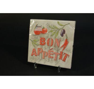 Bon appetit kerti parti papírszalvéta 33x33 cm