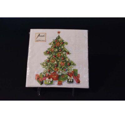 Karácsonyi papírszalvéta karácsonyfa 33x33 cm 20 db