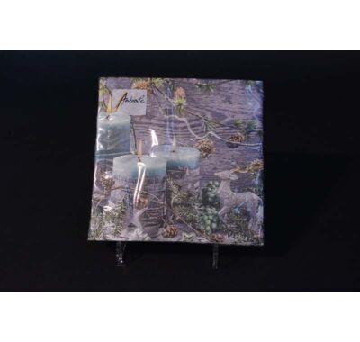 Karácsonyi papírszalvéta gyertyával 33x33 cm 20 db