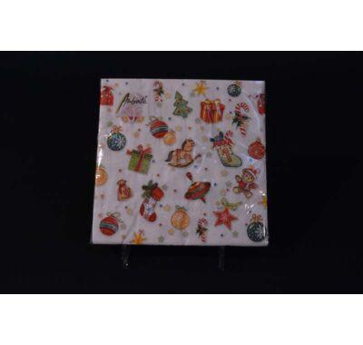 Karácsonyi papírszalvéta  33x33 cm 20 db