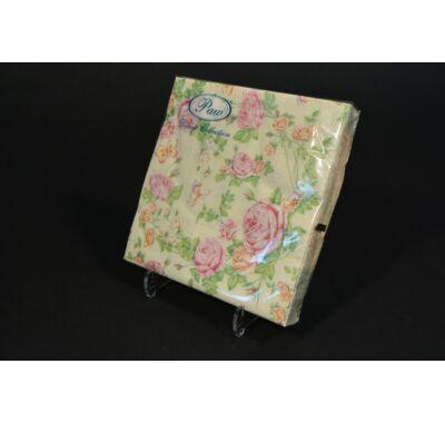 Papírszalvéta - rózsa 33 x 33 cm