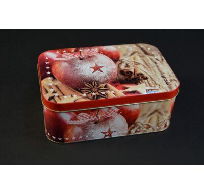 Karácsonyi fém süteményes doboz 19x13 cm