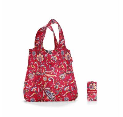 Reisenthel Mini maxi shopper összehajtható  bevásárló szatyor paisley ruby