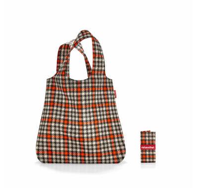 Reisenthel Mini maxi shopper összehajtható  bevásárló szatyor kockás