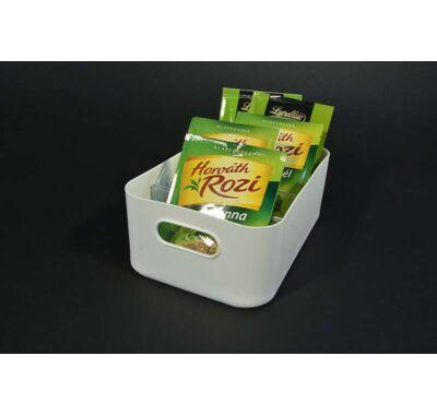 Rekeszes  műanyag konyhai tároló doboz