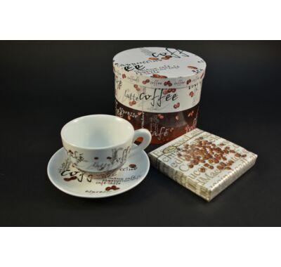 Cappuccinos kávés csésze