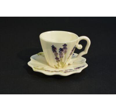 levendulás kerámia kávés csésze