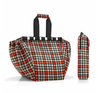 Reisenthel easyshoppingbag bevásárló kocsira akasztható bevásárló táska kockás