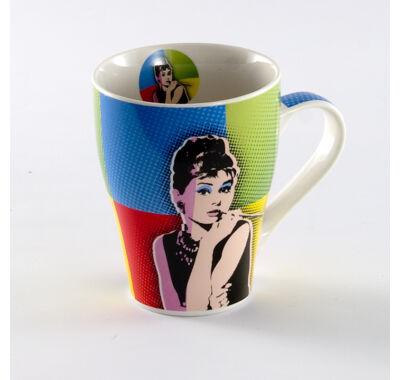 Audrey Hepburn teás-kávés bögre 4 dl