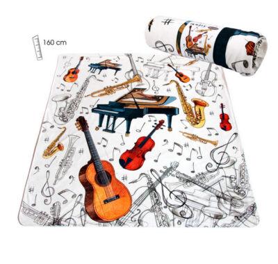 hangszer mintás takaró