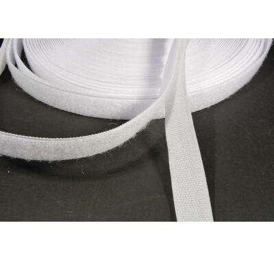 Varrható tépőzár 20 mm fehér párban