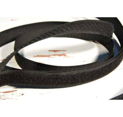 Varrható tépőzár 20 mm párban fekete