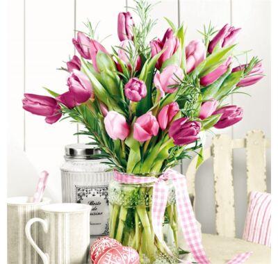 Decoupage tulipán papírszalvéta 33x33cm