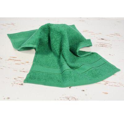 Sötét zöld frottír kéztörlő 30x50cm