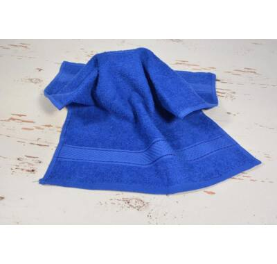 Király kék frottír kéztörlő 30x50cm