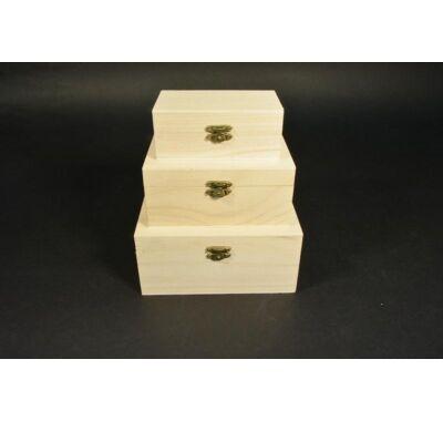 Csatos doboz szett 3 db-dekorálható fa