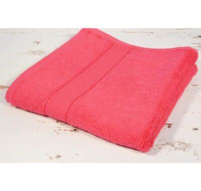Pink frottír törölköző 50x90cm
