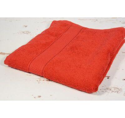 Piros frottír törölköző 50x90cm