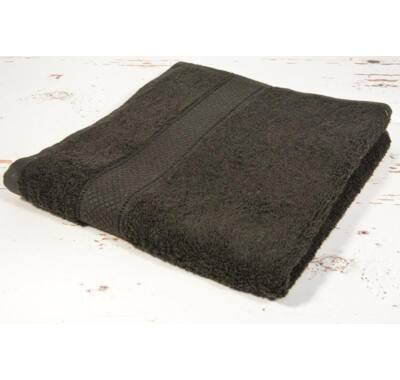 Fekete frottír törölköző 50x90cm