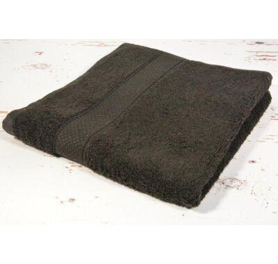 Fekete frottír törölköző 70x130cm