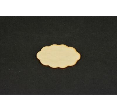 Dekorálható fa alap felhőcske 5x3,5 cm