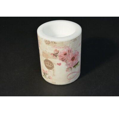 Rózsabimbós átvilágítós gyertya