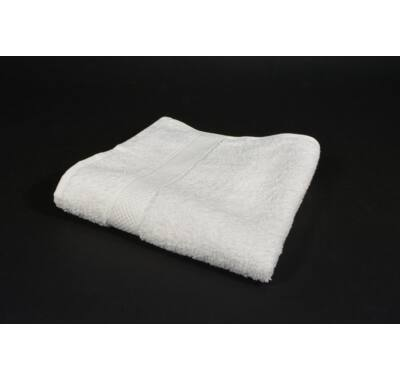 Fehér bordűrös frottír törölköző fürdőlepedő  strandtörölköző 70x140cm