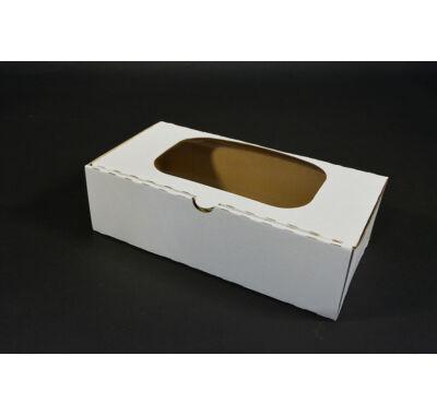 ablakos süteményes doboz