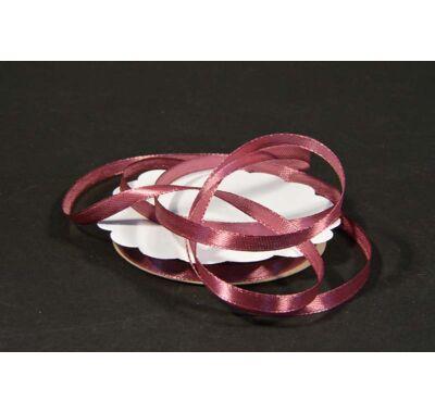 szatén szalag 6 mm  sötét rózsaszín