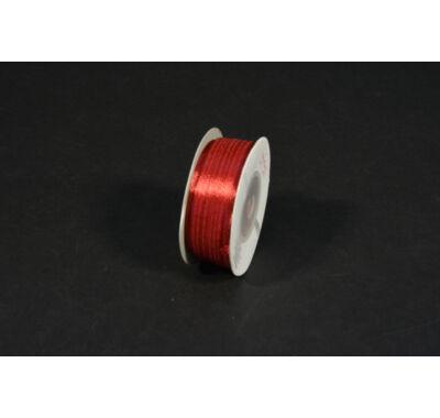 szatén szalag  3 mm x 50 m burgundi vörös