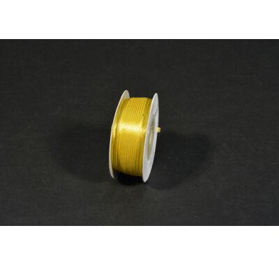 szatén szalag  3 mm x 50 m gold